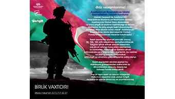 Silahlı Qüvvələrinin Yardım Fonduna dəstək məqsədi ilə satış sərgisi keçirilir.
