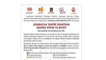 Azərbaycan təsviri sənətində qrafika dünən və bugün.