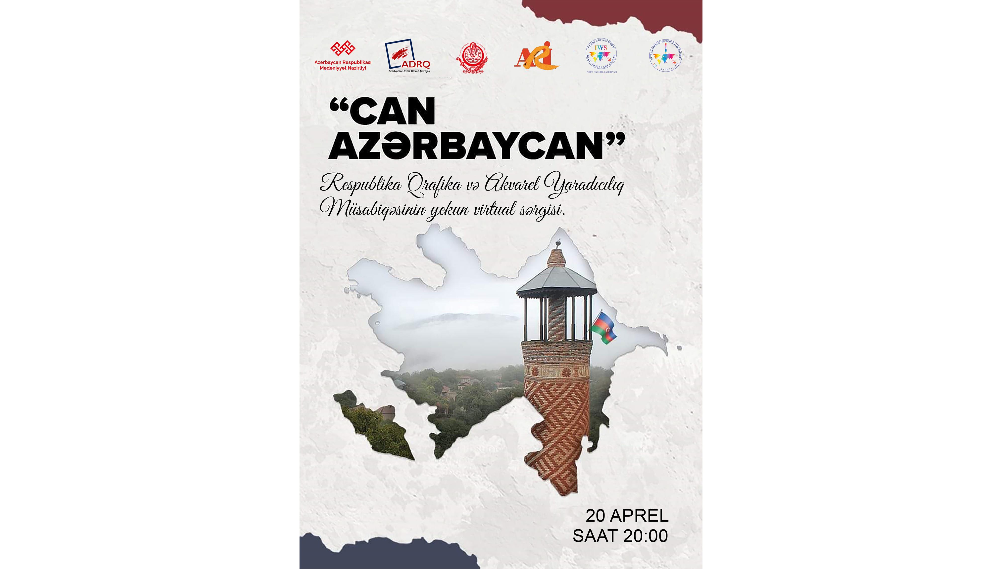 """""""Can Azərbaycan"""" Respublika yaradıcılıq müsabiqəsinin yekun virtual sərgisi keçiriləcək"""
