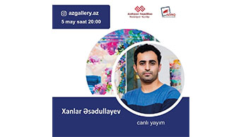 Artist Khanlar Asadullayev will hold a live meeting with his followers on the social network.
