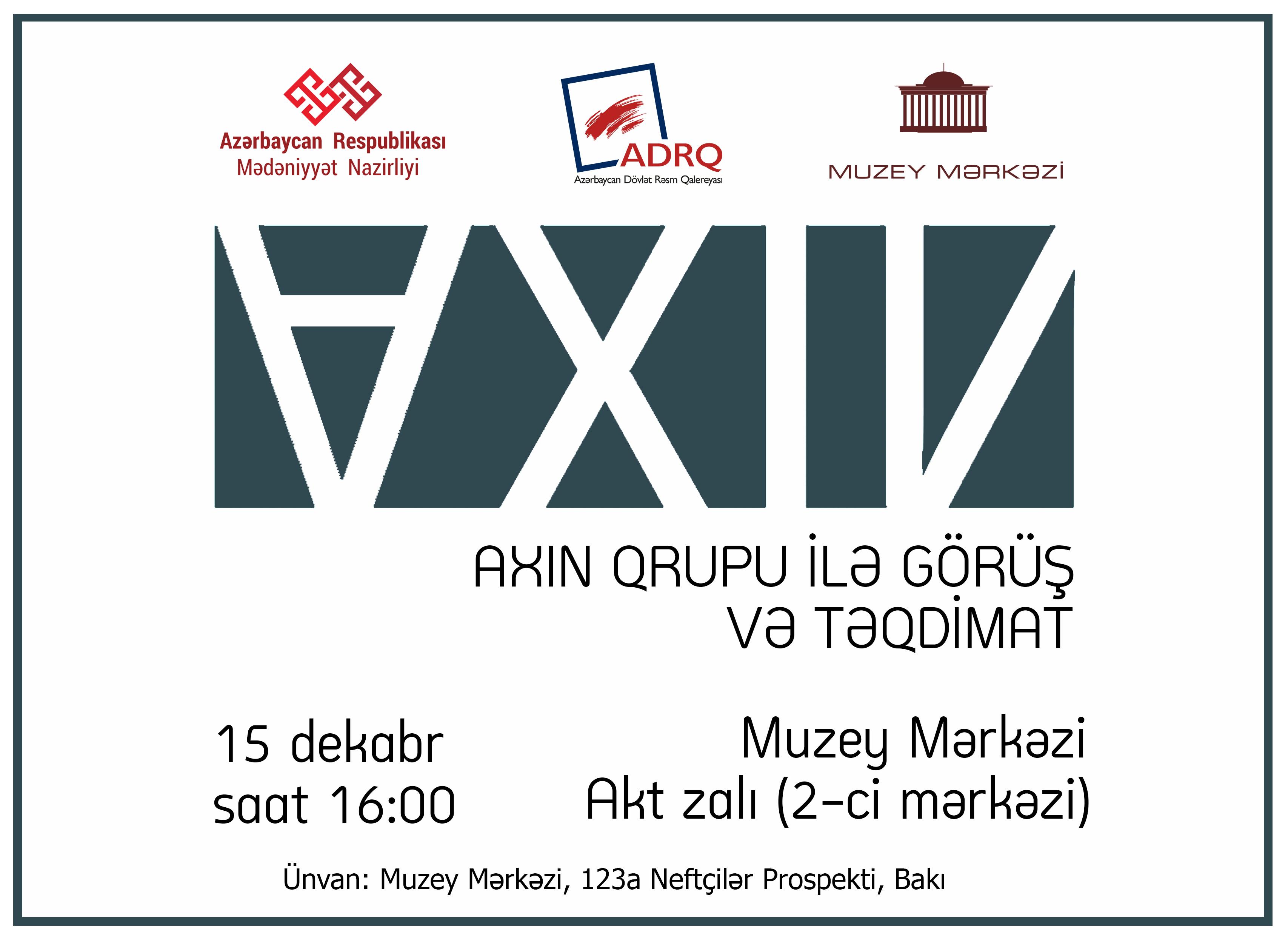 """""""AXIN""""-ın təqdimatı keçiriləcək"""