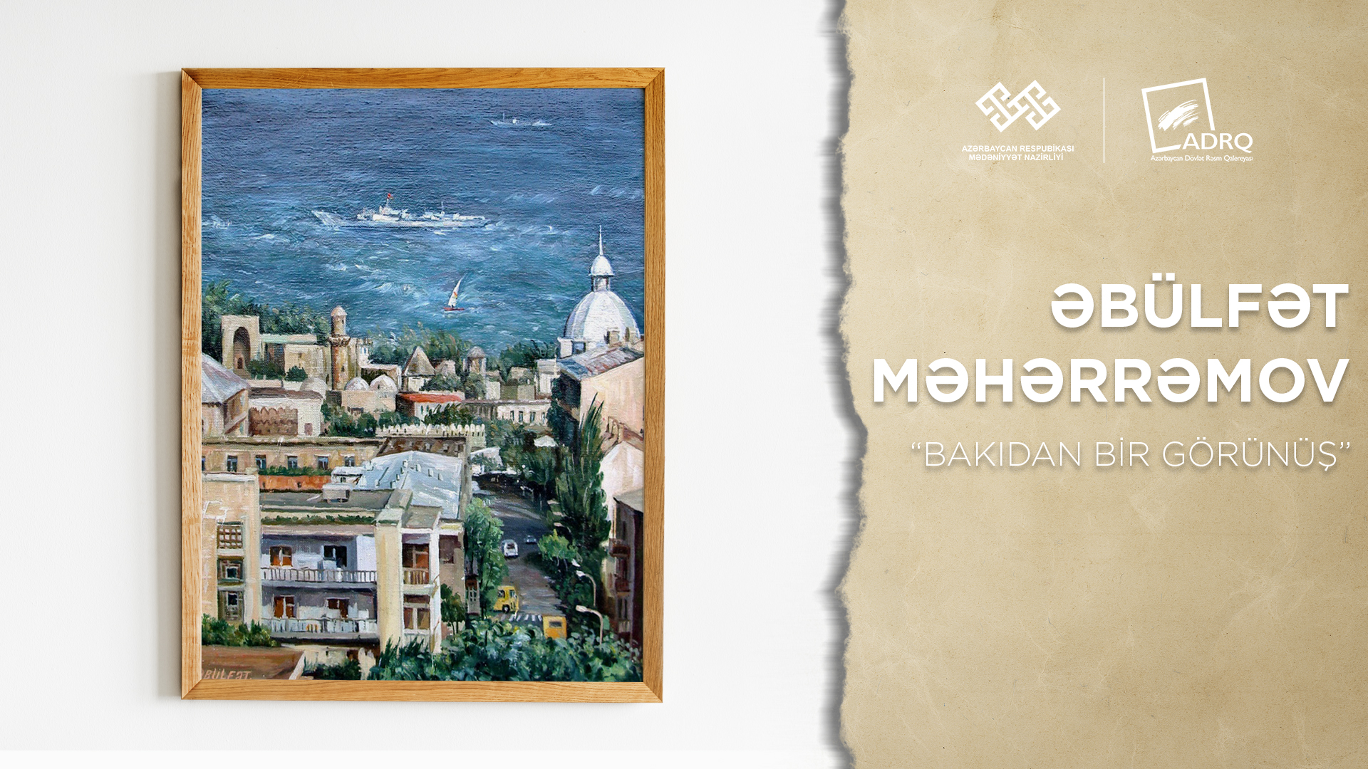 A virtual exhibition of artists living in Ganja was held