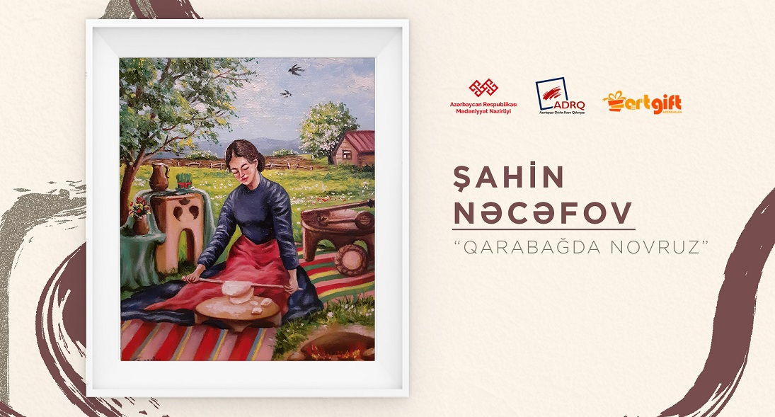 An online sale-exhibition of artists was held on the occasion of Novruz holiday.