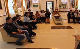 A master class was held in the Qusar State Art Gallery.