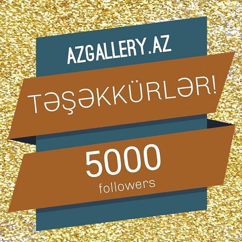 Qalereyanın instagram sosial şəbəkəsində izləyiciləri  5000 nəfəri keçib